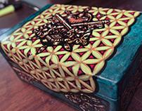 Golden Keys - Handpainted Box