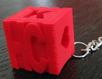3D-gedruckter Erinnerungswürfel
