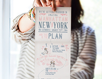 Trifold Save the Date - The Blush Market