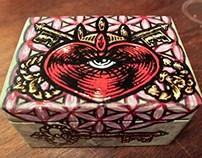 Heart - Handpainted Box
