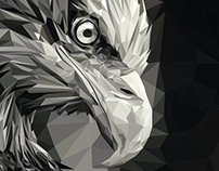 Eagle_low poly