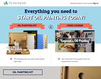 Oil Painting Kit Landing Page