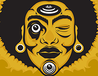 Negritude Republic Face Illustration