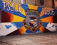 New York Cares : Ps/MS 306 Mural