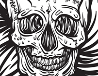 Skull - Doodle/Illustration/Brush Stroking