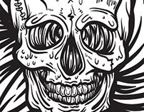 Skull - Doodle/Illustration/Brush Stroking