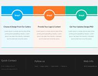 Design portal step page