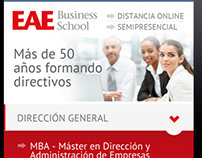 EAE Business School web page