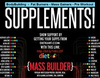 Complete Supplement Info for bodybuilders - Infographic