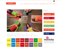 GOLDEN YOGI : Website Design & Photography