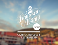 Francesca Alviani       Resume & Letterhead