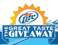 Website - Miller Lite - Great Taste Giveaway