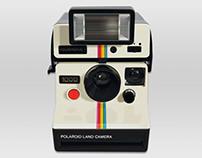 Ilustración hiperrealista Polaroid