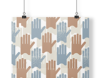 Hands Pattern - Poster