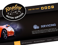 Ropley Garage web concepts