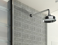 Photo+CGI | Wall Mount Rain Shower