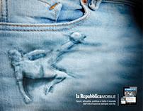 LA REPUBBLICA MOBILE APP. Print commercial