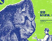 CAKE Mandrill Concert Poster - Arcata, CA