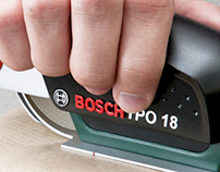 BOSCH TPO - Applying adhesive tape as easy as stapling