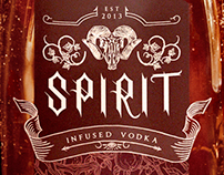 """SPIRIT"" Halloween Vodka Branding"