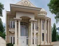 Desain Rumah Mewah Klasik Bu Khusnul