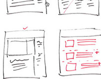 Wireframes, UX, & UI Sketches