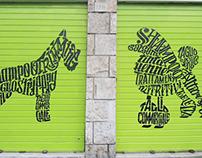 Rolldoor Calligrams for Pet Shop