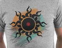 Retro Vinyl Records - Vinyl With Paint - Music DJ Tee