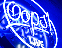Oops Live Performance Hall Branding