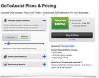 GoToAssist Plans and Pricing Page