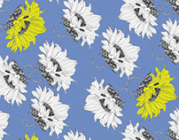 From sunflower motif to pattern