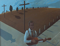 Robert Johnson at the crossroads