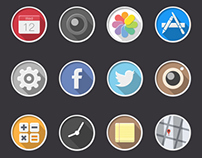 Redesigned rounded iOS icons