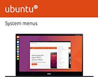 Ubuntu System and Contextual Menus