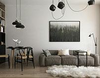 Apartment visualization (design by Alina Tsaunya)