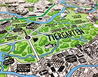 Hand Drawn Map of Berlin