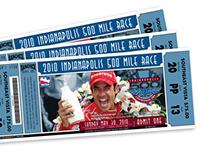 2010 Indianapolis 500 Ticket