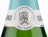 Förpackningsdesign vin - Crémant d'Alsace