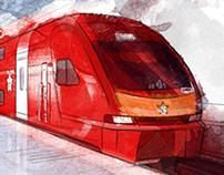 Illustrations for Aeroexpress