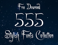 Free Download 555 Fonts Collection....