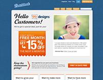 Batchbook Integration landing page for 99 Designs