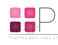 Paula Leal MUA // Logo & business card design