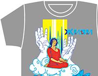 GIVI-YOGA, artwork for T-shirts