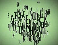 """Kinetic typography """"HELP-I'M ALIVE!"""""""
