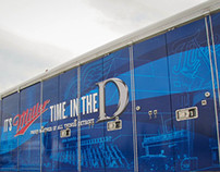 It's Miller Time In The D - Trailer Wrap