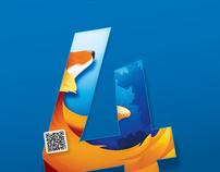Promotional Poster for Mozilla Firefox 4