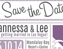 Save the Date- Vannessa & Lee