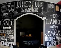 Directors Of Typography X Lanee - Typographic mural