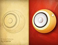 i Music Round Icon