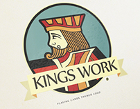 Playing cards King logo